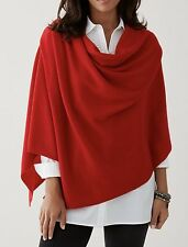 NEW$149 J.Jill Luxe Wool & Cashmere Wrap Scarf Pashmina RED 30x68 one size