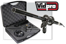 "VidPro XM-55 11"" Shotgun Microphone Kit for 3.5mm XLR 1/4"" 6.3mm Handheld"