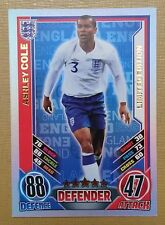 Match Attax England 2012 Topps Ashley Cole limited edition card. Very rare.