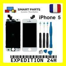 ECRAN LCD RETINA + VITRE TACTILE COMPLET SUR CHASSIS IPHONE 5 BLANC + OUTILS