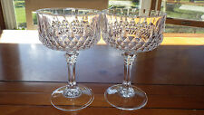 Longchamp Champagne Glasses Clear Crystal by Cristal D'Arques France 2 8oz stem