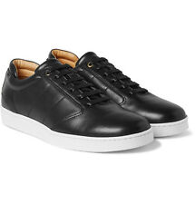 Want Les Essentiels De La Vie Lennon Black Leather Sneakers Sz 41/ US 8