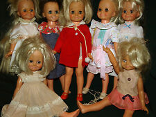 Vintage Ideal Crissy dressed VELVET and MIA Grow Hair doll Lot
