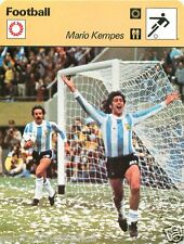 FICHE CARD : Mario Kempes  ARGENTINA ARGENTINE  FOOTBALL 70s