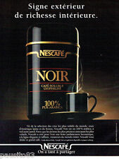 PUBLICITE ADVERTISING 125  1996  NESCAFE   café soluble NOIR pur arabica