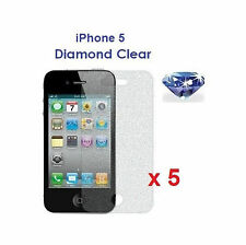 5 X iPhone 5 5G Bling Diamond Sparkling Glitter Shimmer Screen Protector