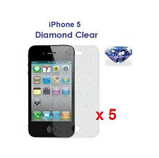 5 X iPhone 5 5S 5C Bling Diamond Sparkling Glitter Shimmer Screen Protector