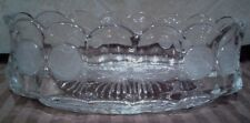 VINTAGE FOSTORIA CLEAR COIN GLASS OVAL CANDY OR NUT DISH  1887 COLLECTION