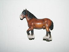 "Germany Schleich Plastic Stallion Clydesdale Draft Horse Figure 5"" 2000"