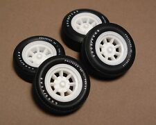 AMT MPC Vintage Trans-am Racing, 4 Narrow Minilite Rims W/CenterCap Resin (ML3a)