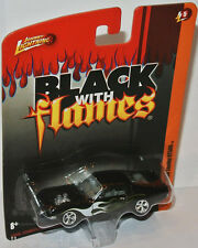 Forever 64 R5 - 1968 SHELBY MUSTANG GT500 - black/flames - 1:64 Johnny Lightning