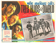 3 Godfathers Lobby Card Size 12.5x17 Movie Poster Mexican B John Wayne ( Three )