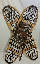 "Vintage Wooden Snowshoes ""Snocraft"" Norway, Maine.  Decoration Too"