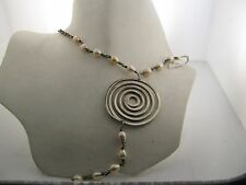 925 sterling silver necklace with cultured pearls