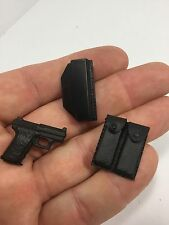 1/6 HECKLER & KOCH HKP-7 PISTOL WITH HOLSTER TWIN MAG POUCH BBI DID 21ST DRAGON