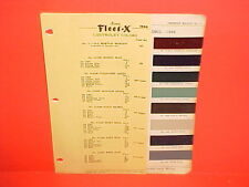 1946 CHEVROLET CAR STYLEMASTER FLEETMASTER CONVERTIBLE FLEETLINE PAINT CHIPS 46