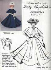 "18""ANTIQUE FRENCH FASHION LADY DOLL@VICTORIAN/GIBSON GIRL CIRCULAR DRESS PATTERN"
