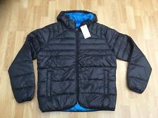 MENS JACK & JONES HOODED PUFFER JACKET IN BLACK STYLE BARON SIZE XL