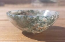 NATURAL MOSS AGATE STONE HANDCARVED GEMSTONE BOWL [3]