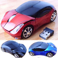 3D Car Shaped 2.4GHz Optical Wireless Mouse Mice USB Receiver For Laptop Macbook