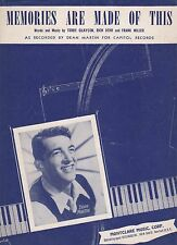 Dean Martin Memories Are Made Of This US Sheet Music