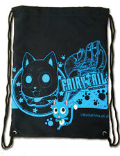 **License Bag** Fairy Tail Exceed Happy & Guild Logo Drawstring Back Pack #11653