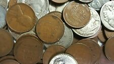Pre-1964 Mixed U.S. Coins Lot Collection of  90% Silver Dime Nickels Pennies..