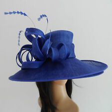 FAILSWORTH COBALT BLUE WEDDING HAT OCCASION  FORMAL MOTHER OF THE BRIDE