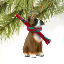 BOXER Cropped Dog Tiny One Miniature Christmas Holiday ORNAMENT