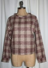 PLAID SWEATER LADIES WILLOW AND CLAY PLAID SWEATSHIRT NEW SZ SMALL