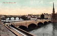 AYR AYRSHIRE SCOTLAND UK THE TWA BRIGS POSTCARD 1910s