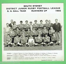#T102.  SOUTH SYDNEY JUNIOR RUGBY LEAGUE PHOTO - 1966  S.G.  BALL RUNNERS UP