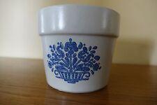 """Vtg Pfaltzgraff Blue Yorktowne FTD 4""""  Flower Pot Planter USA 1982 Retired Crock"""
