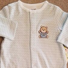 SWEET! NEW LITTLE ME NEWBORN STRIPED BEAR FOOTED SLEEP N PLAY OUTFIT REBORN