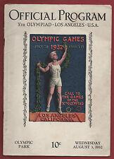 Orig.PRG    Olympische Spiele LOS ANGELES 1932  -  03.08.1932 / mit 5 Final`s !!