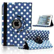 BLUE Fashion Dot Leather 360° Rotating Stand Case Cover For iPad 2/3/4 UK SELL