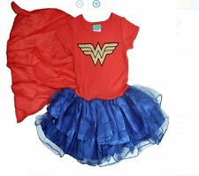 Wonder Woman Girls Cape Tutu Costume Dress Playwear