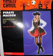 NEW Women's Adult  Pirate Maiden Lady Dress Costume One Size NWT - FREE SHIPPING