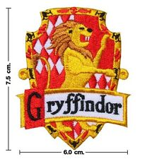 Harry Potter House GRYFFINDOR Crest Emblem Embroidery Stick Iron On Patch Badge