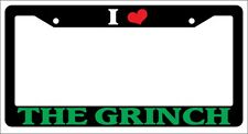 Black License Plate Frame I Heart The Grinch Green Auto Accessory Novelty