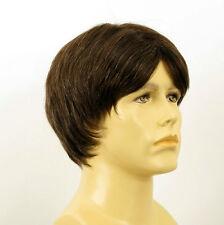 Perruque homme 100% cheveux naturel châtain ref MARTIN 6spw