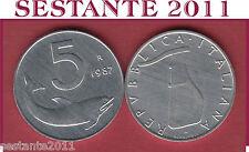 A27  ITALY ITALIA  REPUBBLICA ITALIANA  5 LIRE 1987  KM 92  FDC/UNC  DA ROTOLINO