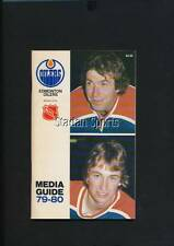 '79-80 Edmonton Oilers Media Guide - Inc.: Gretzky & Messier - 1st season in NHL