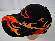 Chevrolet Cap Logo Embroidered Black Orange Flame Hat Chevy Ralph White Snapback