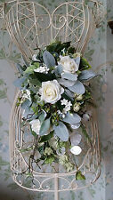 Stagionale Brides handtied AVORIO Rose Wedding Bouquet Fiori Posy Real Touch SETA