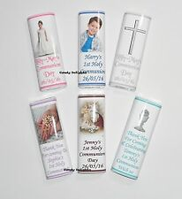 50 Personalised 1st Holy Communion Chocolate Bar WRAPPERS  Favour , Favours