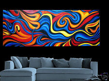Large Landscape Aboriginal Modern Art Oil Painting Abstract By Aussie Jane