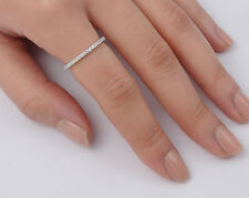 USA Seller Thin One-Row Ring Clear Sterling Silver 925 Best Deal Jewelry Size 7