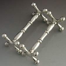 TOP QUALITY HEAVY ENGLISH STERLING SILVER CUTLERY RESTS 1910 ANTIQUE 117g