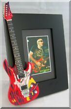 JOE SATRIANI  Miniature Guitar Picture Frame Surfing with the Aliens